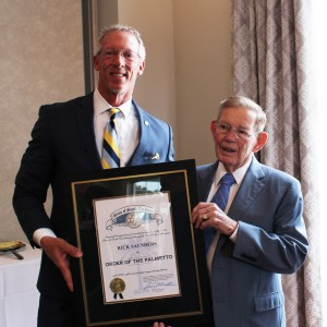 Saunders awarded Order of the Palmetto